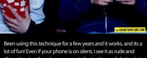 How to make people stop using their phone in the theater…