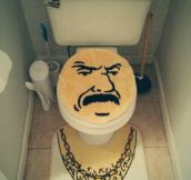 New toilet seat set…