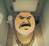 New toilet seat set…