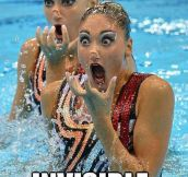 Synchronized swimming gets weird fast…