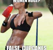 Weights good, cupcakes bad…