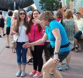 Awkward photobomb…