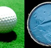 Golf Balls Cut in Half (10 Pics)