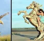 Driftwood Sculptures (12 Pics)