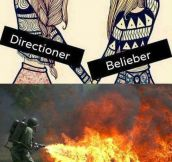 Directioners and Beliebers