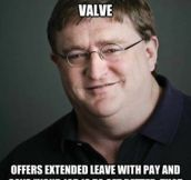 Good guy Gabe Newell