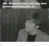 I give you the Beatles, trolling forefathers!