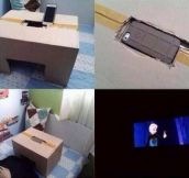 Improvised Mini Movie Theatre