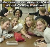 Jennifer Lawrence in middle school