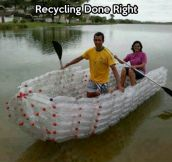 Reduce, reuse, make a boat
