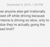 Road rage problems