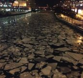 The Chicago River Tonight