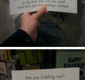 The perfect birthday card