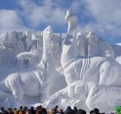 16 Awesome Snow Sculptures…