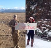 Christmas card when you are away…