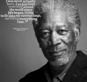 Morgan Freeman's opinion on his immortality…