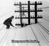 Russia during winter…