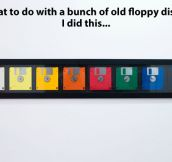 Floppy disks decoration…
