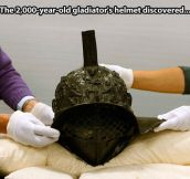 Ancient gladiator's helmet…