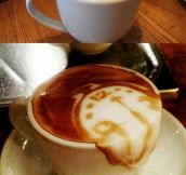 These baristas have real talent…