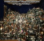A little Christmas village…