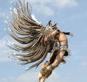 Majestic Aztec dancer…