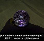 A mini universe…