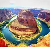 Horseshoe bend in Page, Arizona…