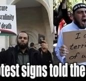 Protest signs telling the truth…