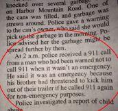 911 paradox…