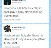 A conversation between gentlemen…