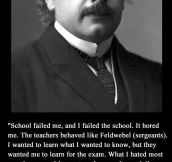Albert Einstein on education…