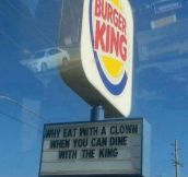 Not bad burger king…