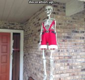Halloween decoration in Christmas…