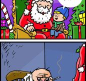Santa has to work so hard…