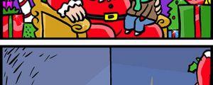 Santa has to work so hard…