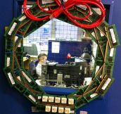 IT office Christmas wreath…