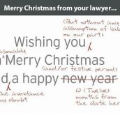 Christmas card from your lawyer…