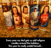 Religious candles around the holidays…