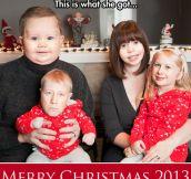 Family portrait for Christmas….