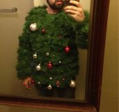 This sweater wins all the ugly sweater awards…