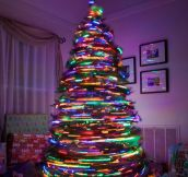 Spinning tree of lights…
