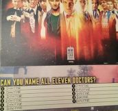 Can you name all eleven Doctors?