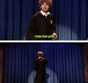 Simon Pegg as Ron Weasley…