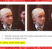 A+ for Tom Felton…