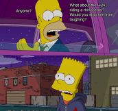 Bart telling Homer he'd stand up for him…