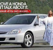 The Messiah's car…