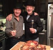 Thanksgiving with two epic men…
