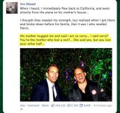 Vin Diesel on Paul Walker's death…