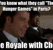 The Hunger Games in French…